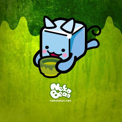 緑茶とねこび〜ん